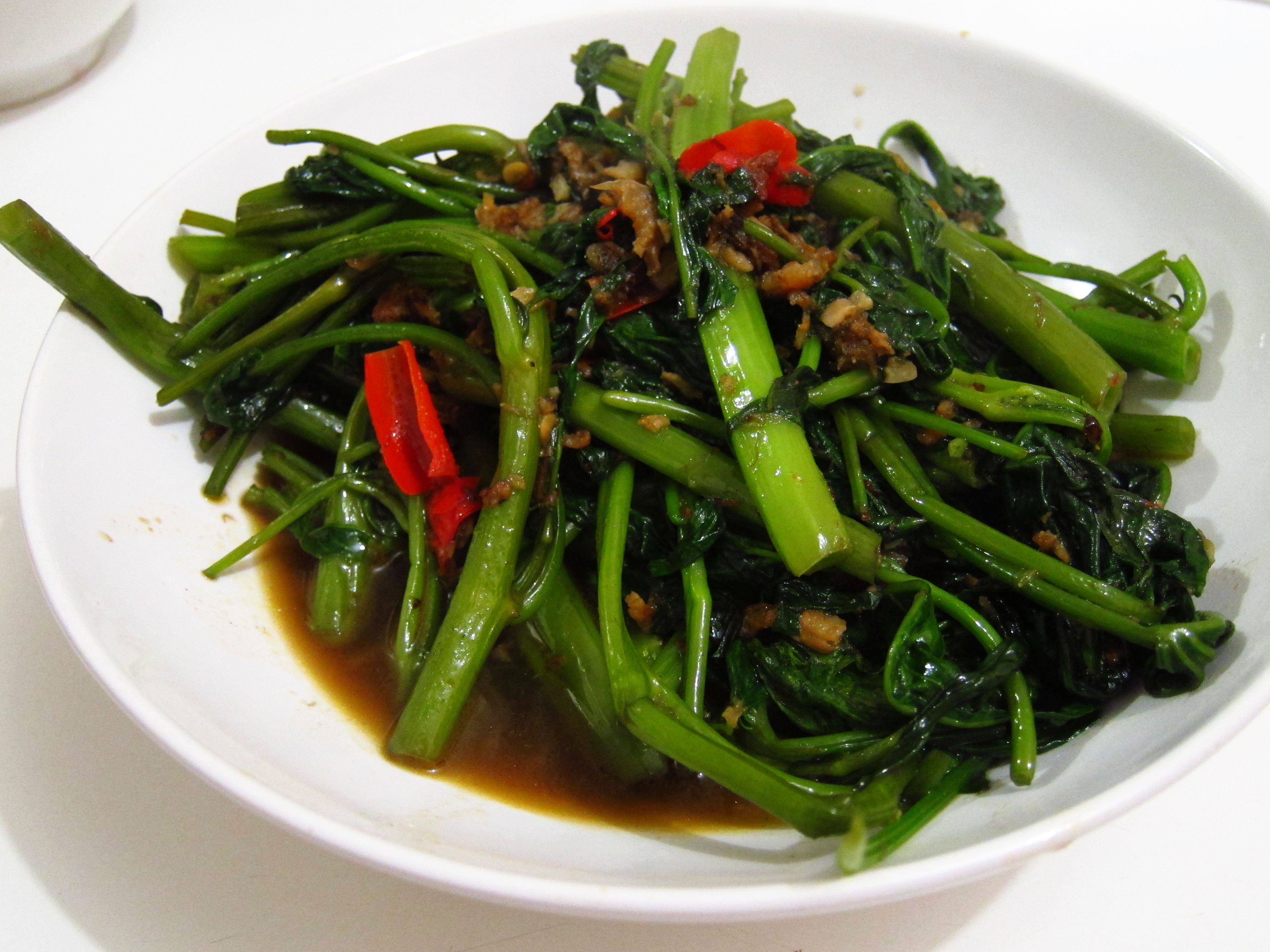 Grilled Skate wing with Kangkong Belacan | Tales of the Kitchen